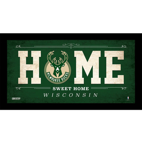 Milwaukee Bucks 6x12 Home Sweet Home Sign - Steiner Sports - Dropship Direct Wholesale