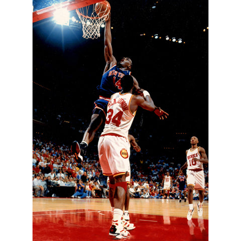 Anthony Mason Dunk over Olajuwon 8x10 Photo - Steiner Sports - Dropship Direct Wholesale