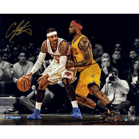 Carmelo Anthony vs LeBron James Signed Metallic 16x20 Photo - Steiner Sports - Dropship Direct Wholesale