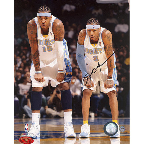 Allen Iverson w Carmelo Anthony 8x10 Photograph (Iverson Holo) - Steiner Sports - Dropship Direct Wholesale
