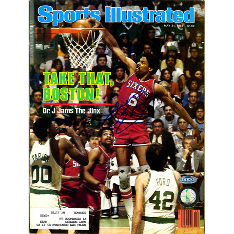 Julius Erving 53182 Signed Sports Illustrated Magazine - Steiner Sports - Dropship Direct Wholesale