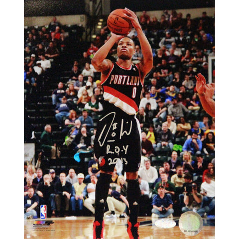 Damian Lillard Signed 8x10 Photo w ROY Insc - Steiner Sports - Dropship Direct Wholesale