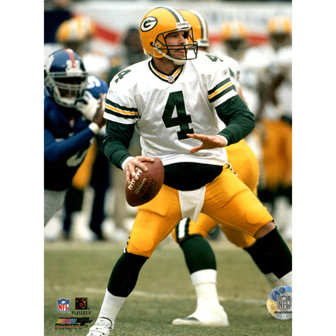 Brett Favre w white jersey Packers vs Giants 8X10 (PF) - Steiner Sports - Dropship Direct Wholesale