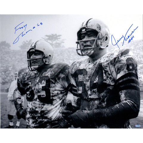 Fuzzy ThurstonJerry Kramer Dual Signed 16x20 Horizontal BW Photo - Steiner Sports - Dropship Direct Wholesale