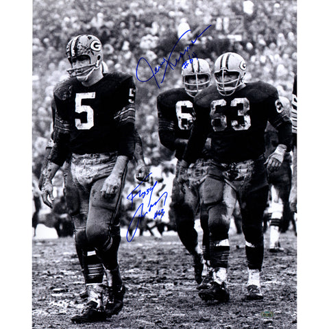 Fuzzy ThurstonJerry Kramer Dual Signed 16x20 Vertical BW Photo Signed in Blue - Steiner Sports - Dropship Direct Wholesale