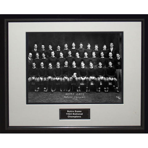 1924 Notre Dame National Championship Team Portrait Framed 16x20 Photo - Steiner Sports - Dropship Direct Wholesale