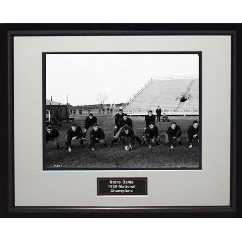 1929 Notre Dame National Championship Team Portrait Framed 16x20 Photo - Steiner Sports - Dropship Direct Wholesale