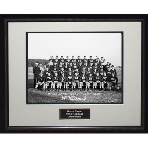 1943 Notre Dame National Championship Team Portrait Framed 16x20 Photo - Steiner Sports - Dropship Direct Wholesale