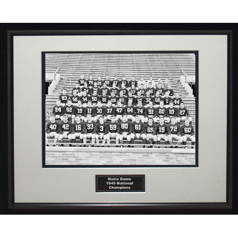 1946 Notre Dame National Championship Team Portrait Framed 16x20 Photo - Steiner Sports - Dropship Direct Wholesale