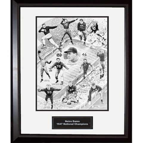 1947 Notre Dame National Championship Team Portrait Faces Only Framed 16x20 Photo - Steiner Sports - Dropship Direct Wholesale