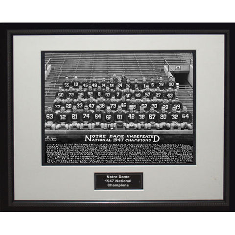 1947 Notre Dame National Championship Team Portrait Framed 16x20 Photo - Steiner Sports - Dropship Direct Wholesale