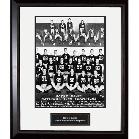1949 Notre Dame National Championship Team Portrait Framed 16x20 Photo - Steiner Sports - Dropship Direct Wholesale