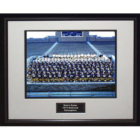 1973 Notre Dame National Championship Team Portrait Framed 16x20 Photo - Steiner Sports - Dropship Direct Wholesale