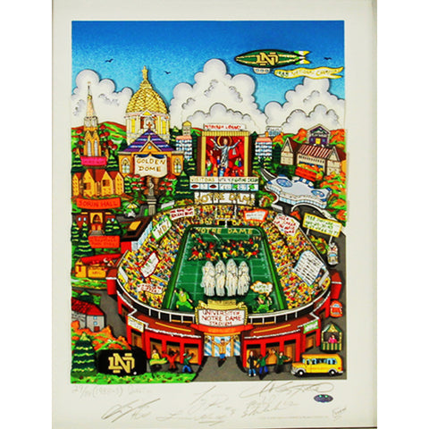 1988 Notre Dame National Champs 5 Signature Fazzino Pop Art (LE 88) - Steiner Sports - Dropship Direct Wholesale