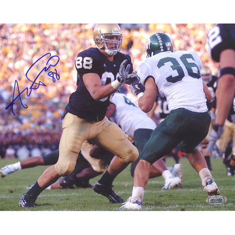 Anthony Fasano Notre Dame Blocking vs. Michigan State Horizontal 8x10 Photo - Steiner Sports - Dropship Direct Wholesale