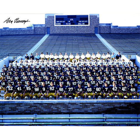 Ara Parseghian Signed 1973 Notre Dame National Championship Team Portrait 16x20 Photo - Steiner Sports - Dropship Direct Wholesale