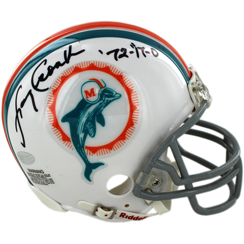 Larry Csonka Miami Dolphins 1972 Model Replica Mini Helmet w 72 17-0 & Still Undefeated Insc - Steiner Sports - Dropship Direct Wholesale