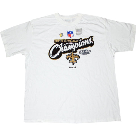New Orleans Saints Super Bowl XLIV Champs Locker Room Tee Shirt -Large - Steiner Sports - Dropship Direct Wholesale