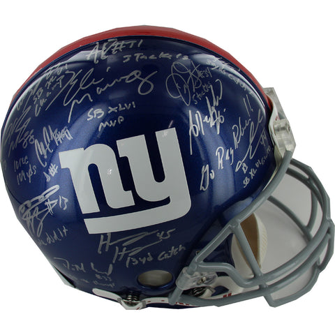 2011 New York Giants Team Signed Authentic Helmet w Insc. (27 Sigs) - Steiner Sports - Dropship Direct Wholesale