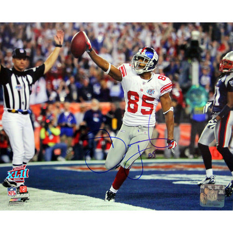 David Tyree Celebrating Super Bowl XLII Catch Against Patriots Signed 8x10 Photo - Steiner Sports - Dropship Direct Wholesale