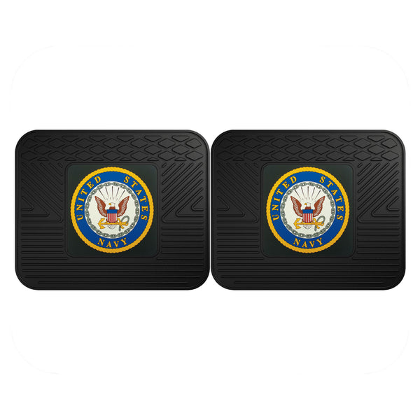Navy Licensed Backseat Utility Mat 2 Pack 14x17 - FANMATS - Dropship Direct Wholesale