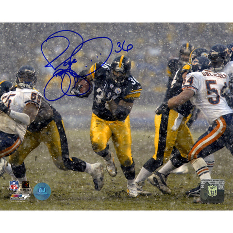 Jerome Bettis Pittsburgh Steelers Signed Rushing in Snow 8x10 Photo (AJ Sports Auth) - Steiner Sports - Dropship Direct Wholesale