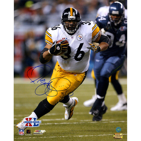 Jerome Bettis Pittsburgh Steelers Signed Superbowl XL Action 16x20 Photo (AJ Sports Auth) - Steiner Sports - Dropship Direct Wholesale