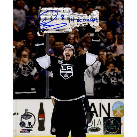Drew Doughty Signed Los Angeles Kings 2014 Stanley Cup Overheard 8x10 Photo w 14 SC ChampInsc. - Steiner Sports - Dropship Direct Wholesale