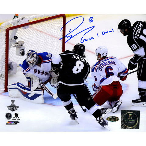Drew Doughty Signed Los Angeles Kings 2014 Stanley Cup Scoring Goal 8x10 Photo w Game 1 GoalInsc. - Steiner Sports - Dropship Direct Wholesale