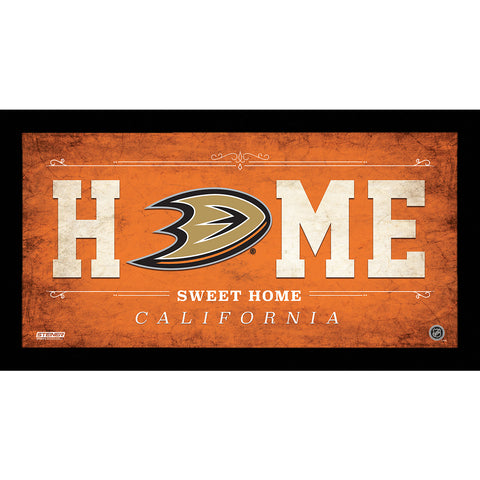 Anaheim Ducks 6x12 Home Sweet Home Sign - Steiner Sports - Dropship Direct Wholesale
