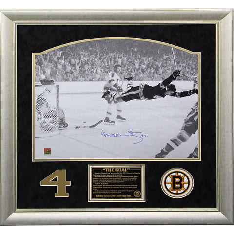 Bobby Orr The Goal Signed and Framed 16x20 Collage (24x24 212-068) - Steiner Sports - Dropship Direct Wholesale