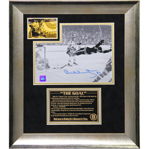 Bobby Orr The Goal Signed and Framed 8x10 Collage (13x16 7535) - Steiner Sports - Dropship Direct Wholesale