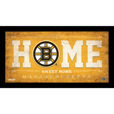 Boston Bruins 6x12 Home Sweet Home Sign - Steiner Sports - Dropship Direct Wholesale