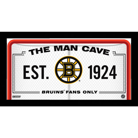 Boston Bruins Man Cave Sign 10x20 Framed Photo - Steiner Sports - Dropship Direct Wholesale