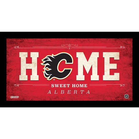 Calgary Flames 6x12 Home Sweet Home Sign - Steiner Sports - Dropship Direct Wholesale