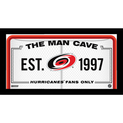 Carolina Hurricanes Man Cave Sign 6x12 Framed Photo - Steiner Sports - Dropship Direct Wholesale