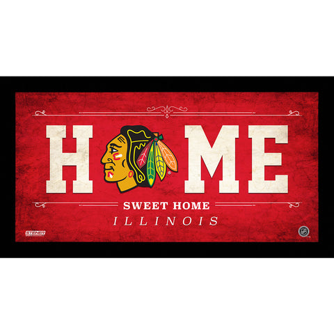 Chicago Blackhawks 6x12 Home Sweet Home Sign - Steiner Sports - Dropship Direct Wholesale
