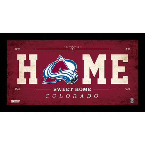 Colorado Avalanche 6x12 Home Sweet Home Sign - Steiner Sports - Dropship Direct Wholesale
