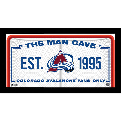 Colorado Avalanche Man Cave Sign 6x12 Framed Photo - Steiner Sports - Dropship Direct Wholesale