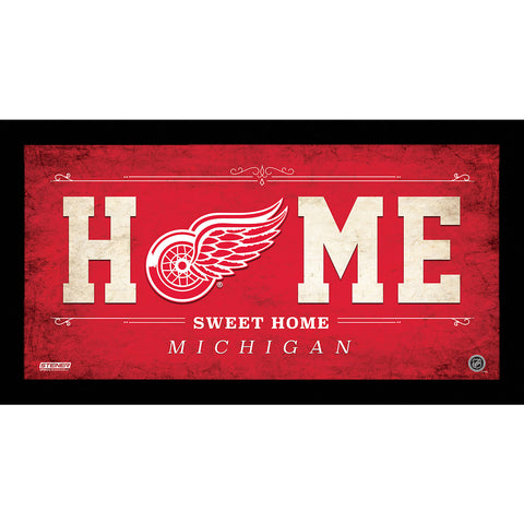 Detroit Red Wings 6x12 Home Sweet Home Sign - Steiner Sports - Dropship Direct Wholesale