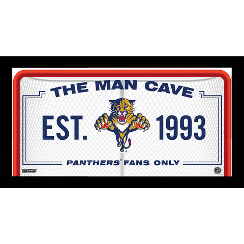 Florida Panthers Man Cave Sign 6x12 Framed Photo - Steiner Sports - Dropship Direct Wholesale