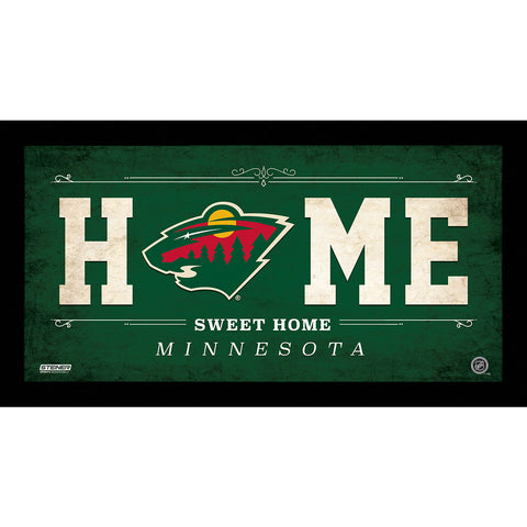 Minnesota Wild 6x12 Home Sweet Home Sign - Steiner Sports - Dropship Direct Wholesale