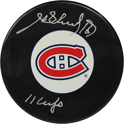 Henri Richard Autographed Montreal Canadiens Puck w 11 Cups Insc (Sport Authentix Auth) - Steiner Sports - Dropship Direct Wholesale