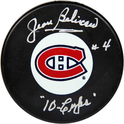 Jean Beliveau Montreal Canadiens Signed Puck w 10 Cups Insc. (AJ Sports Auth) - Steiner Sports - Dropship Direct Wholesale