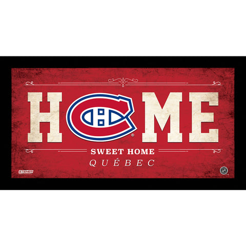 Montreal Canadiens 6x12 Home Sweet Home Sign - Steiner Sports - Dropship Direct Wholesale