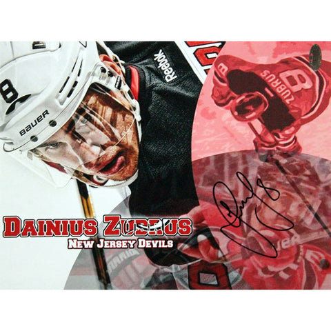 Dainius Zubrus New Jersey Devils Signed 8x10 Photo Close Up View - Steiner Sports - Dropship Direct Wholesale