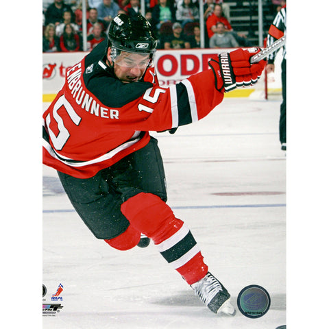 Jamie Langenbrunner Home Slapshot 8x10 Photo - Steiner Sports - Dropship Direct Wholesale