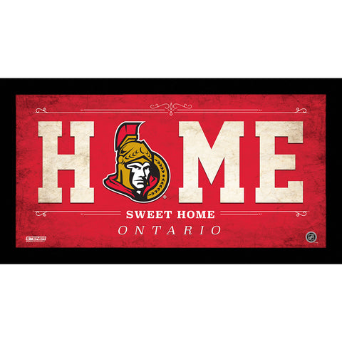 Ottawa Senators 6x12 Home Sweet Home Sign - Steiner Sports - Dropship Direct Wholesale