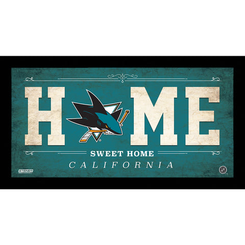 San Jose Sharks 6x12 Home Sweet Home Sign - Steiner Sports - Dropship Direct Wholesale