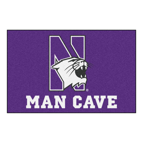 Northwestern University Man Cave Starter Rug 19x30 - FANMATS - Dropship Direct Wholesale